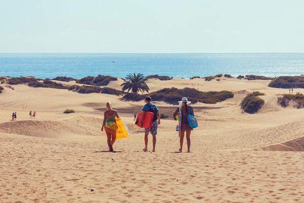 Der Strand und die Dünen von Maspalomas - Gran Canaria